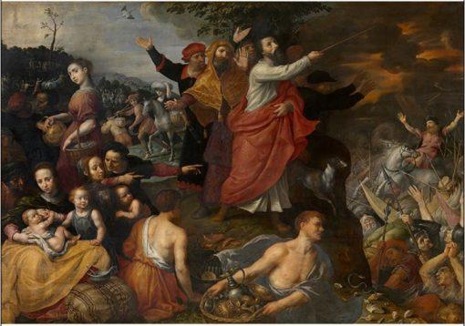 Crossing of the Red Sea | Maarten Pepyn | Oil Painting