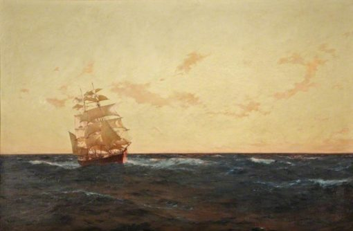A Man Overboard   Thomas Jacques Somerscales   Oil Painting