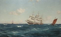 A Strong Breeze in the Channel | Thomas Jacques Somerscales | Oil Painting