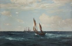 Hove to for a Pilot | Thomas Jacques Somerscales | Oil Painting