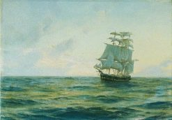 HMS Clio | Thomas Jacques Somerscales | Oil Painting