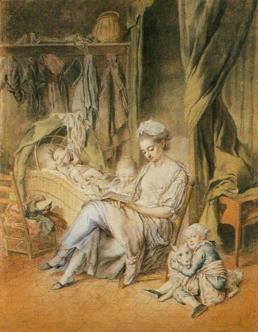 The Happy Mother | Johann Anton de Peters | Oil Painting