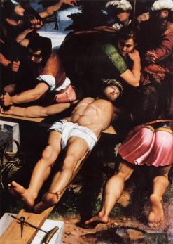 Nailing of Christ to the Cross | Callisto Piazza da Lodi | Oil Painting