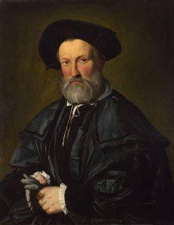 Portrait of a Bearded Man | Callisto Piazza da Lodi | Oil Painting