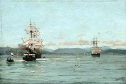 On the Clyde near Greenock | Thomas Jacques Somerscales | Oil Painting