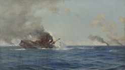 Sinking of The Scharnhorst at the Battle of the Falkland Islands