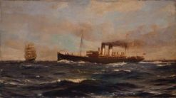 SS Immingham | Thomas Jacques Somerscales | Oil Painting