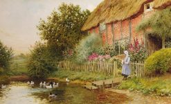 A Rustic Retreat | Arthur Claude Strachan | Oil Painting