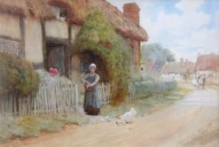 Feeding the Chicks | Arthur Claude Strachan | Oil Painting