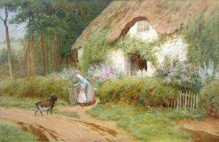 Feeding the Goat   Arthur Claude Strachan   Oil Painting