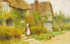 Cottage Scene | Arthur Claude Strachan | Oil Painting