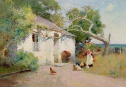 Feeding the Hens | Arthur Claude Strachan | Oil Painting