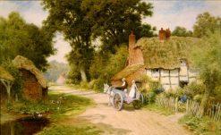 A Warwick Lane   Arthur Claude Strachan   Oil Painting