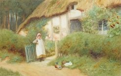 A woodland cottage | Arthur Claude Strachan | Oil Painting