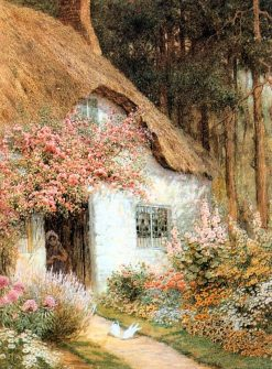 Doves Before Cottage | Arthur Claude Strachan | Oil Painting