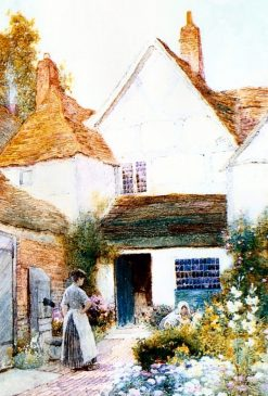 Gardening Outside the Cottage | Arthur Claude Strachan | Oil Painting
