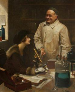 Microscopy | Harold Hume Piffard | Oil Painting