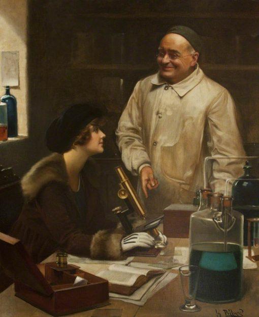 Microscopy   Harold Hume Piffard   Oil Painting