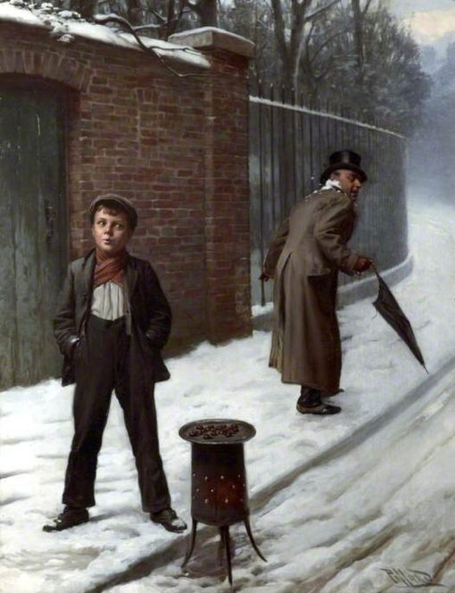 The Snowball -  Guilty or Not Guilty? | Harold Hume Piffard | Oil Painting