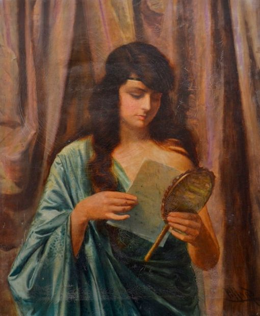 The Letter   Harold Hume Piffard   Oil Painting