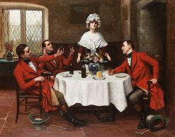 The huntsmens toast | Harold Hume Piffard | Oil Painting