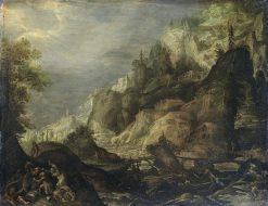 Mountainous landscape | Frederik van Valckenborch | Oil Painting