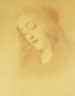 The Virgin (after Botticelli) | Fernand Khnopff | Oil Painting