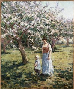Walk among flowering trees | Theodore Robinson | Oil Painting