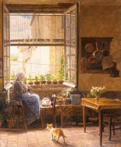 A quiet afternoon | Marie-Francois Firmin-Girard | Oil Painting