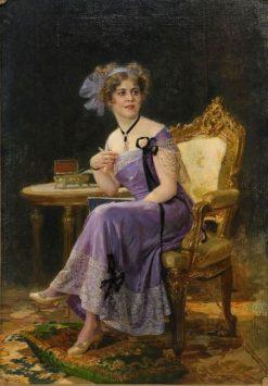 Portrait of Mme Likowskaya | Nikolai Bodarevsky | Oil Painting