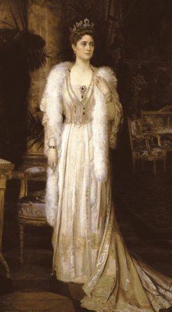 Portrait of Empress Alexandra Fedorovna | Nikolai Bodarevsky | Oil Painting