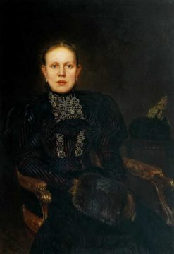 Portrait of O.F. Buryshkina | Nikolai Bodarevsky | Oil Painting