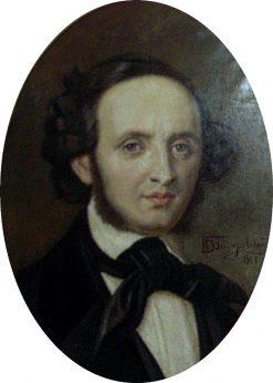 Portrait of Composer Felix Mendelssohn | Nikolai Bodarevsky | Oil Painting