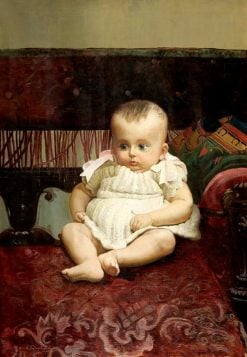 Portrait of a Baby | Nikolai Bodarevsky | Oil Painting