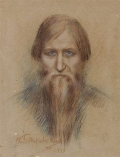 Portrait of Grigory Rasputin | Nikolai Bodarevsky | Oil Painting