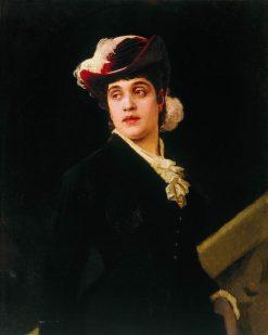 Portrait of Elena Deryagina | Nikolai Bodarevsky | Oil Painting