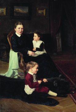 Family Scene | Nikolai Bodarevsky | Oil Painting