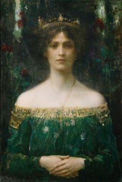 Portrait of a Lady   Eduard Veith   Oil Painting