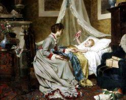 Bedtime | Jan Frederik Pieter Portielje | Oil Painting