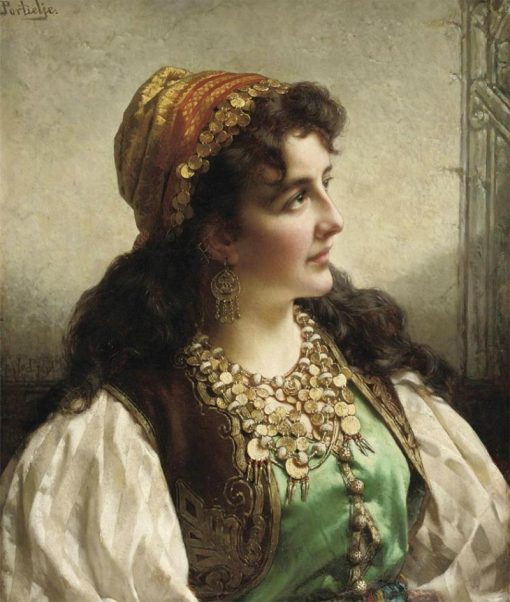 A young gypsy | Jan Frederik Pieter Portielje | Oil Painting