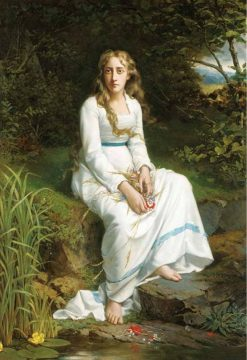 Ophelia | Jan Frederik Pieter Portielje | Oil Painting