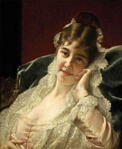 An Alluring Glance | Jan Frederik Pieter Portielje | Oil Painting