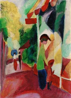 The Shop Window | August Macke | Oil Painting