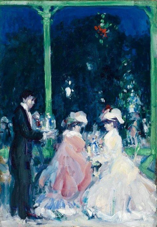La Terasse | John Duncan Fergusson | Oil Painting
