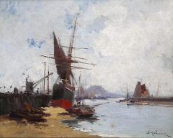 Boats in the Harbour | Eugene Galien-Laloue | Oil Painting