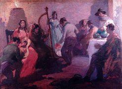 La zamacueca | Arturo Gordon Vargas | Oil Painting