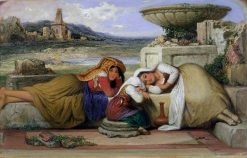 Mendicants of the Roman Campagna | Edward Villiers Rippingille | Oil Painting