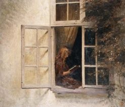 Girl Reading at the Window | Peter Ilsted | Oil Painting