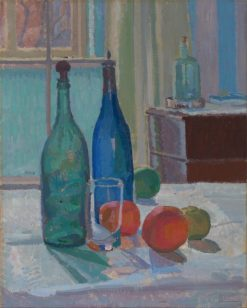 Still life with blue bottles and oranges | Spencer Gore | Oil Painting