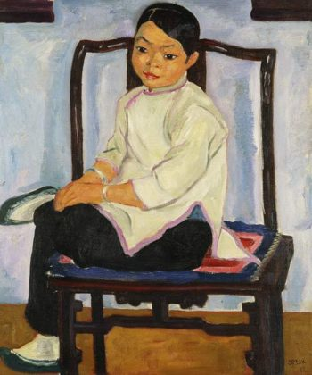 A Chinese Girl   Emil Orlik   Oil Painting